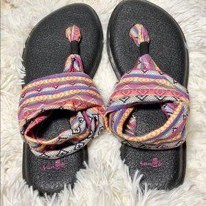 Sanuk Sling Yoga Sandals, Size 7, Gently Used